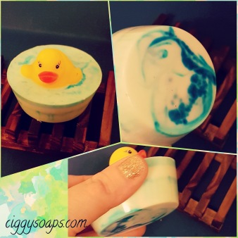 Rubber ducky bath toy soap