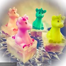 Unicorn bath toy soaps